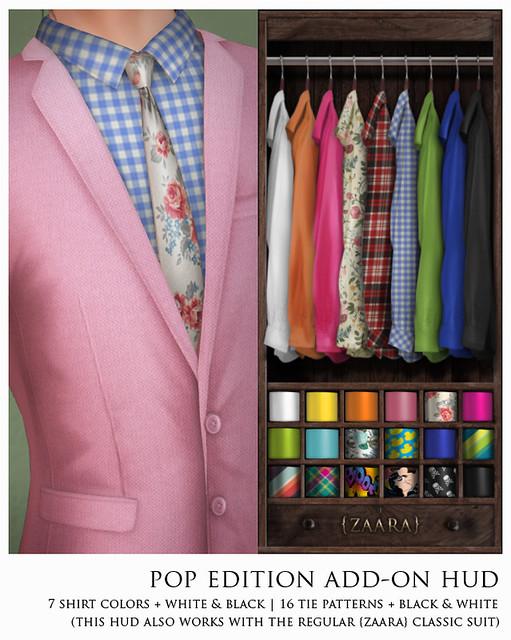 Zaara : classic suit pop edition HUD for The Mens Dept