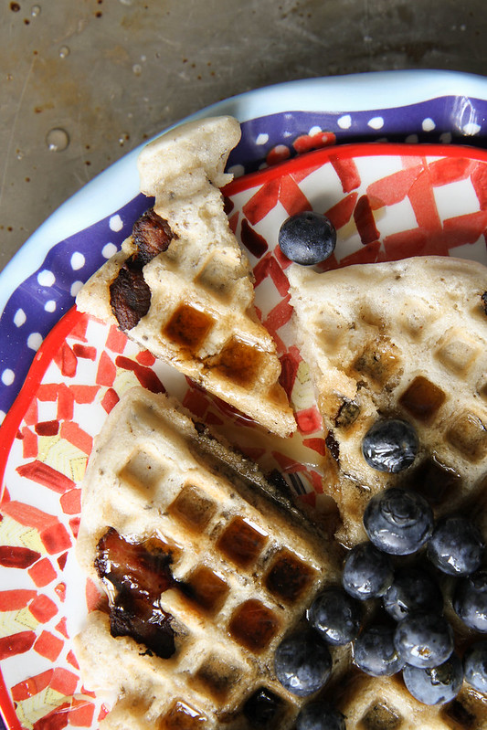 Bacon Waffles (gluten-free, Dairy free, egg free)