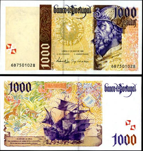 1000 Escudos Portugalsko 1996-2000, Pick 188