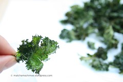 Baked Kale Chips ~ Low-fat, Low-salt 低油,低鹽