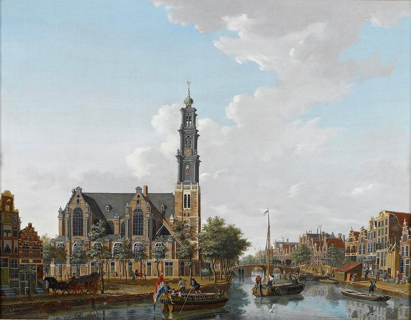Isaak Ouwater - A view of the Westerkerk seen from the Prinsengracht, Amsterdam (1778)