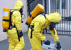 yellow, hazmat suit, person, firefighter,