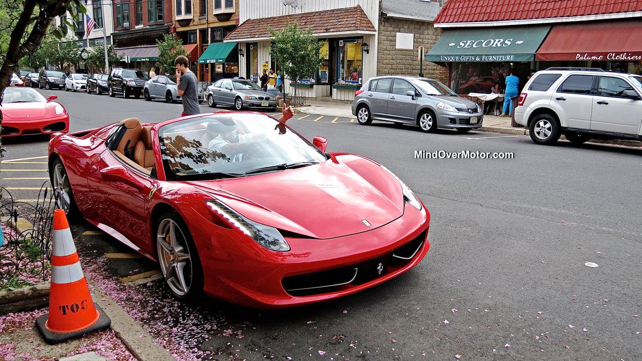 Ferrari 458 Spider at Ladies and Lamborghinis