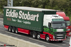 Volvo FH 6x2 Tractor with 3 Axle Curtainside Trailer - PX61 BKN - H4873 - Karen Lesley - Eddie Stobart - M1 J10 Luton - Steven Gray - IMG_1048