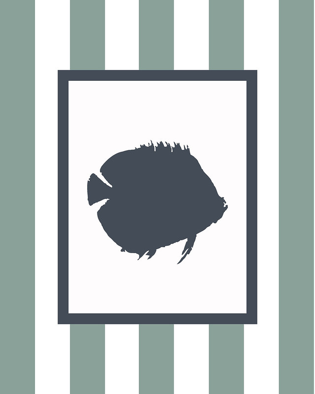 fish, wall art, nursery art