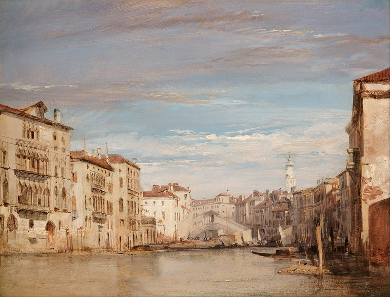 Richard Parkes Bonington - The Grand Canal, Venice, Looking Toward the Rialto (1826)