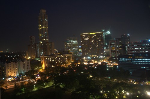 park skyline night triangle colours philippines shangrila manila makati ayala