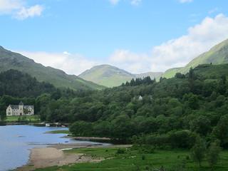 Mountains at Loch Shiel