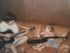 #TBT #Kids First guitar lesson with Dad - (ca. 1985)