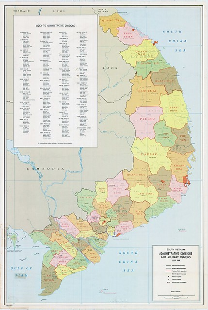 South Vietnam Administrative Divisions and Military Regions July 1968
