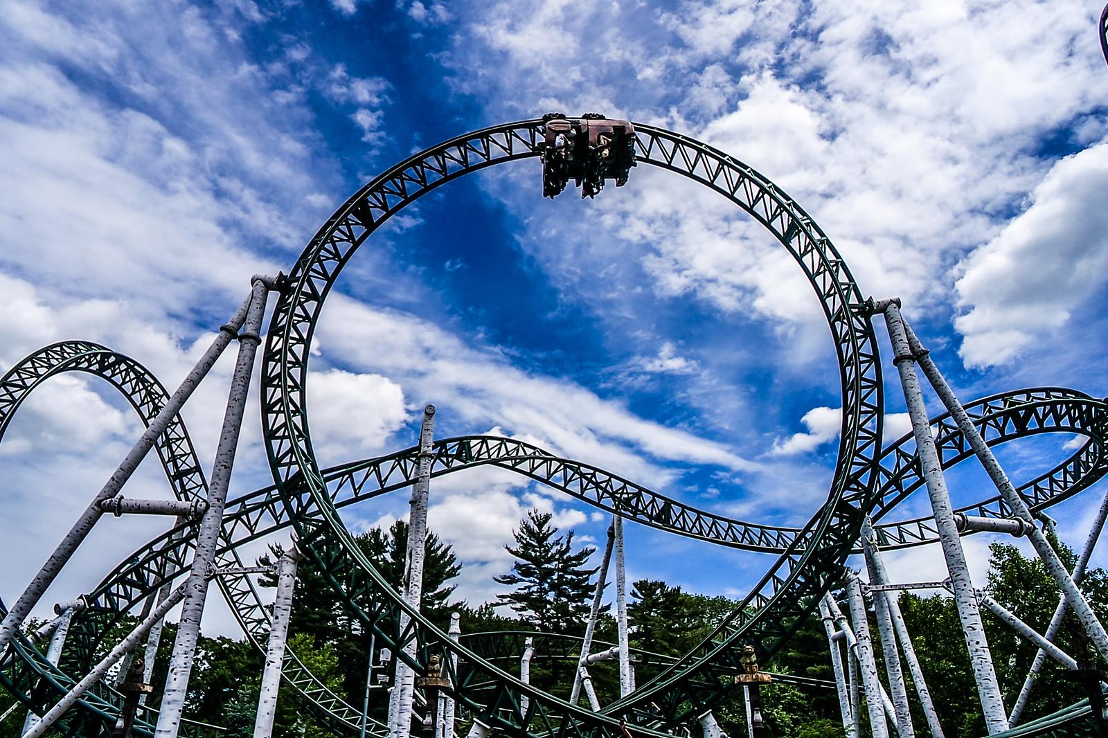 Untamed Roller Coaster at Canobie Lake Amusement Park