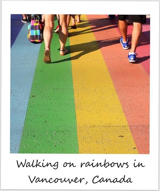 polaroid of the week canada vancouver rainbow
