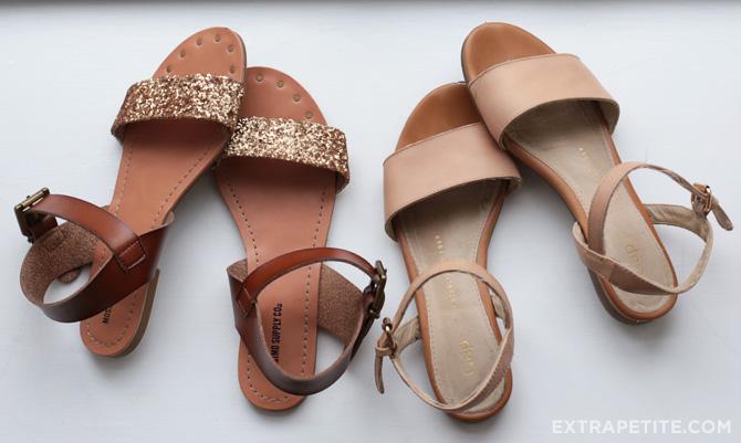 gap vs target sandals