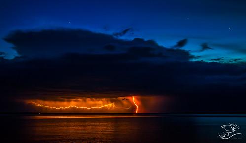 summer canada storm rain night clouds landscape lakes alberta lightning lacstanne drewmayphotography