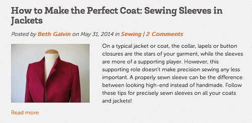 Craftsy post jacket sleeves