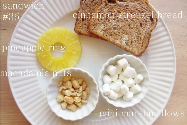 52 sandwiches #36: pineapple & sticky macadamia nuts