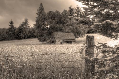 old building sepia canon washington cabin post barbedwire t4i 1riverat merchantroadhomestead matthewreichel