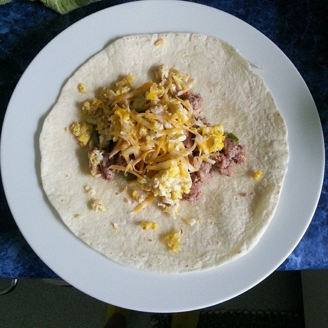 Breakfast burritos...hmmm
