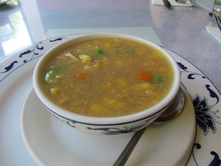 Chicken and Corn Soup at Bamboo Garden
