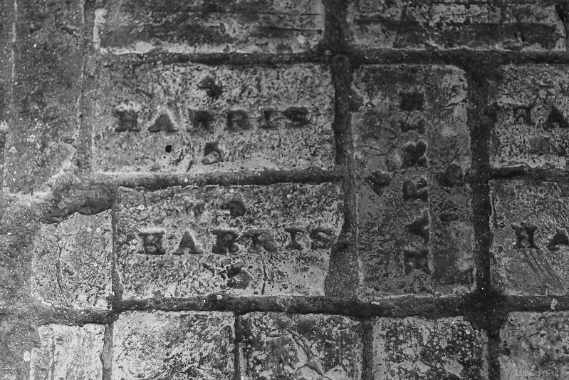 stamped harris floor brick