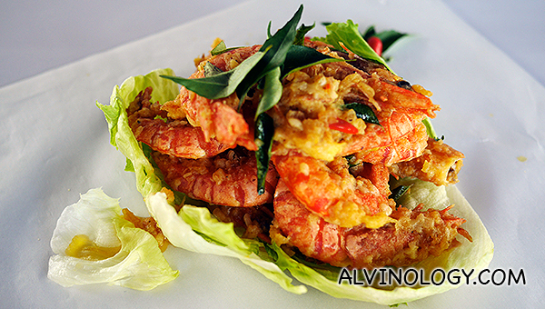 Salted egg yolk prawn