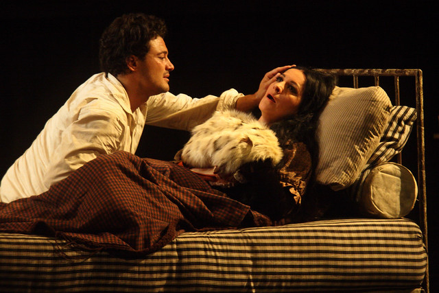 Vittorio Grigolo as Rodolfo and Angela Gheorghiu as Mimì in La bohème, The Royal Opera  © ROH / Catherine Ashmore 2014