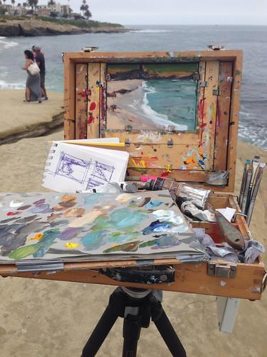 Painting in la jolla