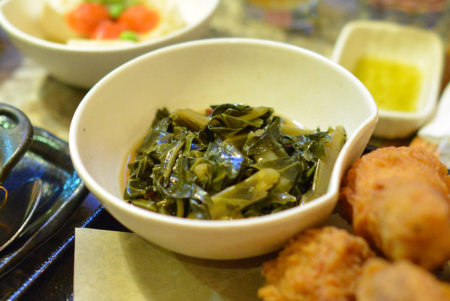 dashi braised collard greens
