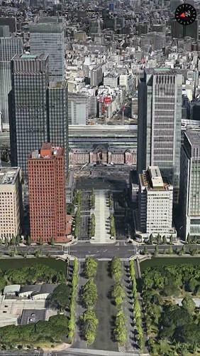 Appleマップ東京駅