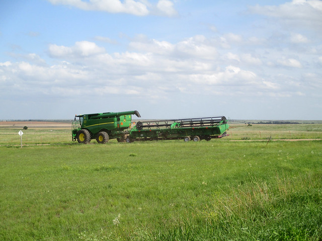 moving combines to a new field