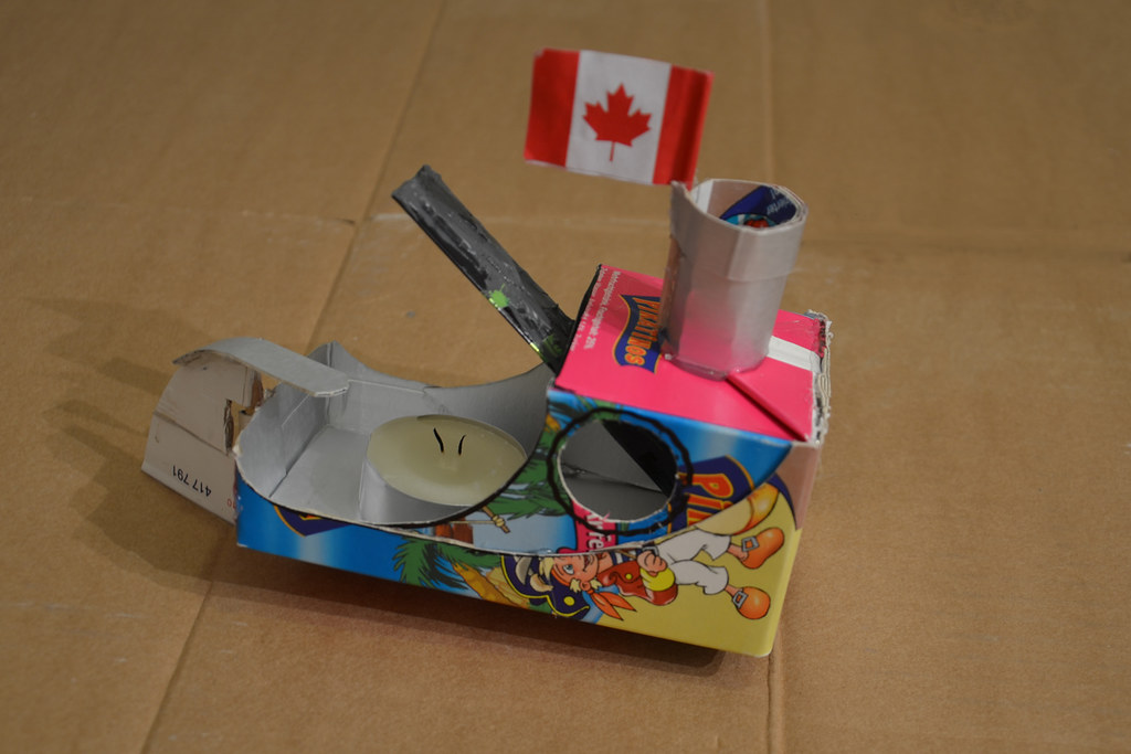 Making putt putt boats with children out of simple recycle for Materials for kids