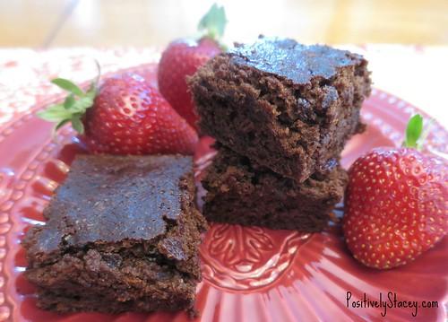 Brownies and Strawberries