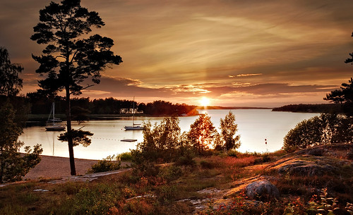 sunset sea sky landscape sweden stockholm soe