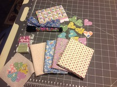 Thanks to Peg in Colorado for all my goodies in Missouri Mel 1930's fabric swap.  Love the little hearts and your doll quilt is adorable!