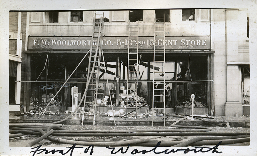 The F.W. Woolworth Co. Fire, 605-607 Austin Avenue, Waco Texas