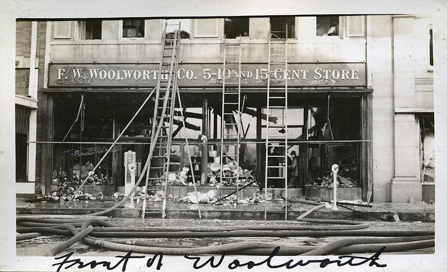 The F.W. Woolworth Co. Fire, 605-607 Austin Avenue, Waco Texas