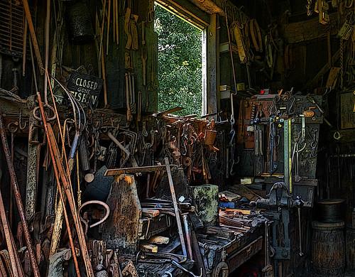 Blacksmith shop workbench