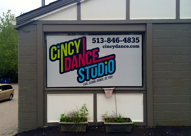 Digitally Printed Window Graphics for Cincy Dance Studio