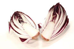 red chicory halves