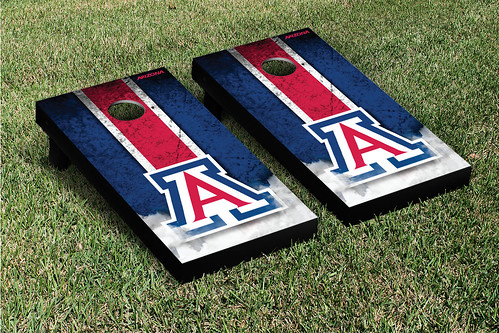 Arizona Wildcats Cornhole Game Set Grunge Version 1
