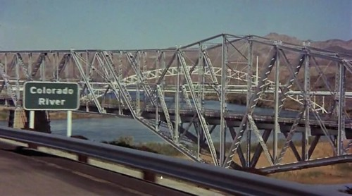 Easy Rider Filming Location - I-40 crossing the Colorado River from California to Arizona