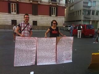 Fabrizio Resta e Mary MOschetti pronti a manifestare (1)
