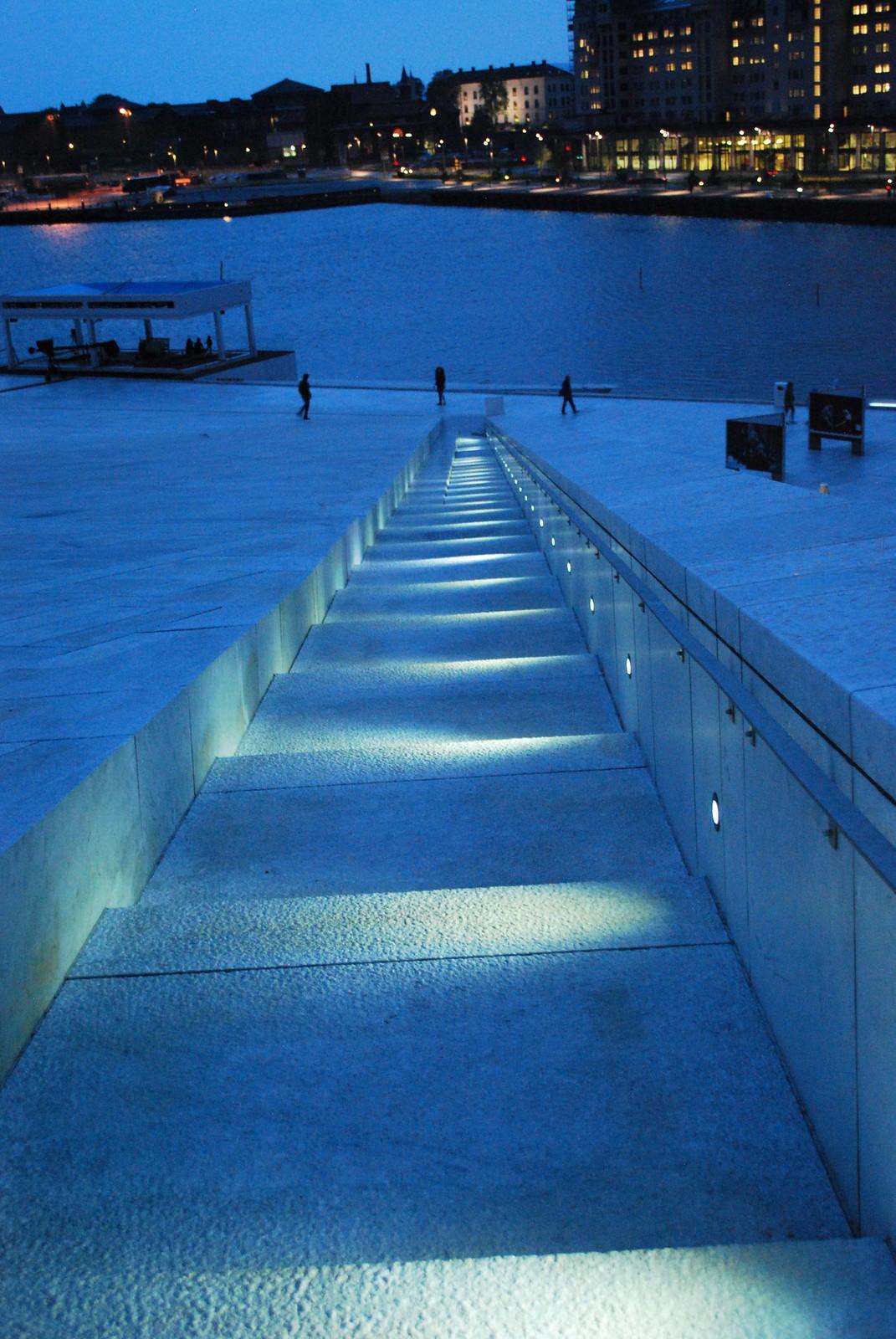 Oslo lit up at night