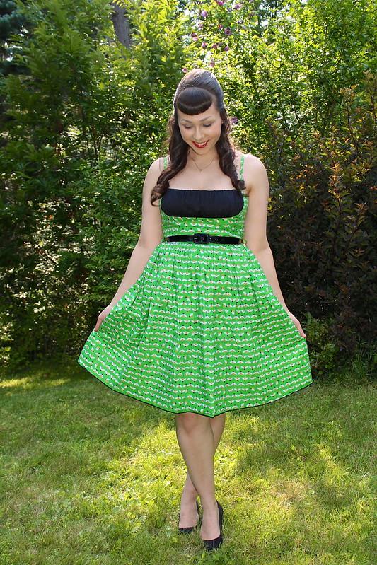 Bee print dress