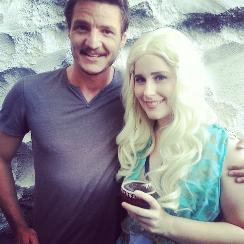 At the Game of Thrones beer tasting, I got to meet Pedro Pascal! Awesome experience and totally unexpected. He was so super nice and liked our costumes! #SDCC2014 #SDCC