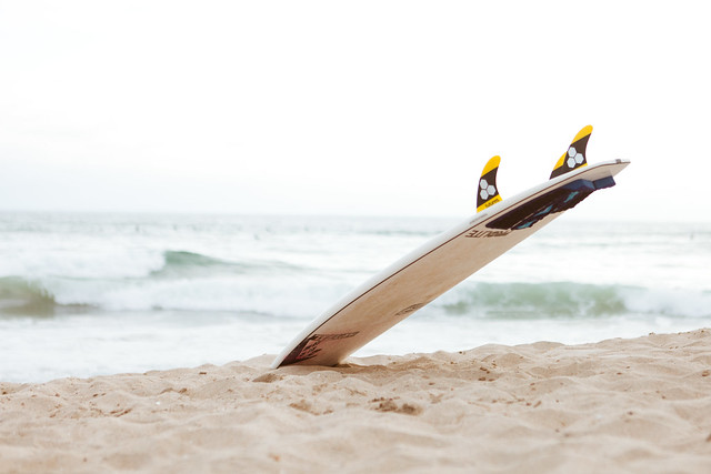 Surf Board on the Beach