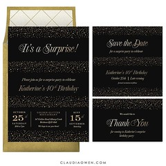 It's a surprise! Surprise parties are the best although it can be hard to keep it all a secret as you are bursting with excitement. One thing is for sure, you can be certain that it will be a party they will treasure forever! #surpriseparty #partyinvitati