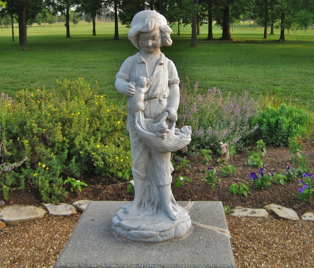 Statue Lost For Awhile From English Garden Statue Lost For Awhile From English  Garden ...