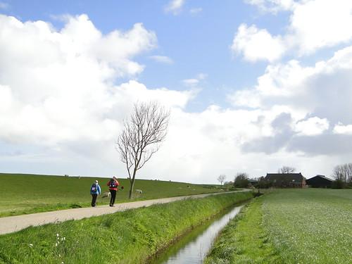 Walking along the old dike