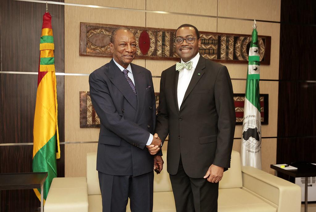 Visite de S.E. Prof. Alpha CONDE, Président de la République de Guinée à la BAD - Abidjan, 28 Mars 2017